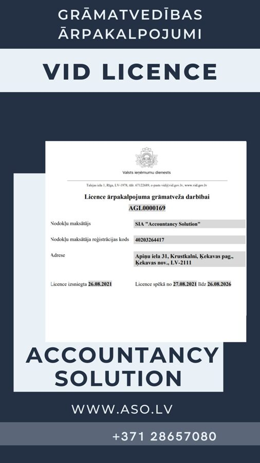 SRS License for the activity of an outsourced accounting services.